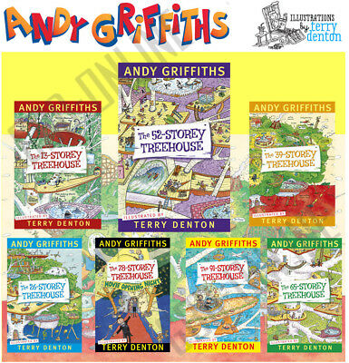 The Treehouse Books 7 Books Set By Andy Griffiths & Terry Denton Papreback