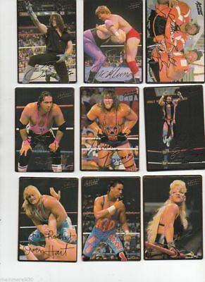 "1994 NEW WWE/WWF ACTION PACKED ""EMBOSSED"" WRESTLING CARD - NEAR SET 41 of 42"