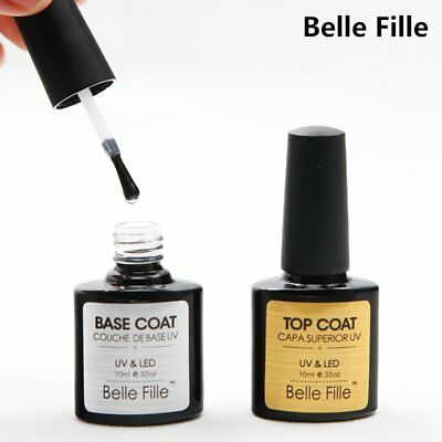 BELLE FILLE Matte Top / Top Coat and Base Coat UV & LED Soak off Gel Nail Polish