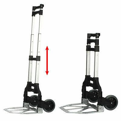 80Kg Heavy Duty Light Folding Foldable Hand Sack Truck Barrow Cart Trolley Black
