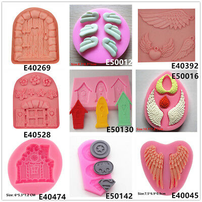 Cartoon Wings Silicone Cake Fondant Cookie Biscuit Chocolate Molds Decorate Tool