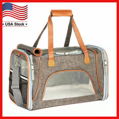 Airline Approved Soft Sided Pet Dog Cat Carrier Pet Travel Bag Fits Under Seat