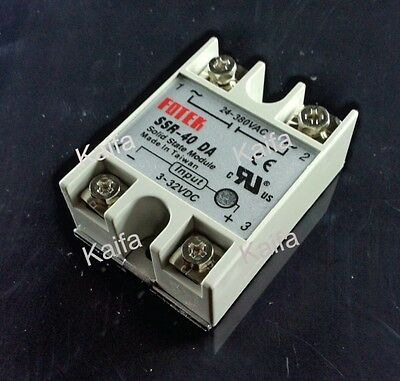 relay Solid State Relay SSR 40A with Protective Flag SSR-40DA 40A DC control AC