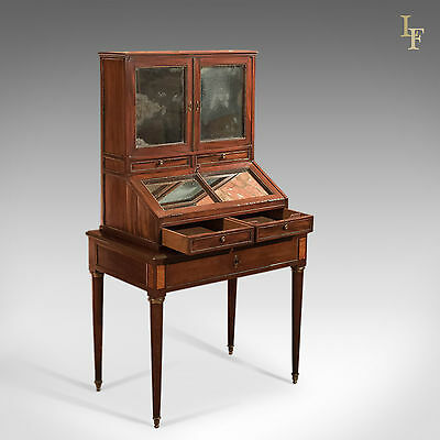 Antique Bonheur du Jour, Gamichon A Paris, Rare Writing Desk, Table French c1800