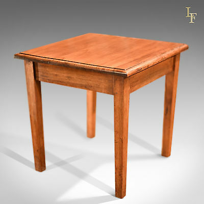 Antique Side Table, Early 20th Century Oak Occasional Table, English, c.1910