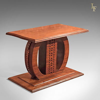 Antique Colonial Table, 19th Century Hardwood Stool, Plinth.