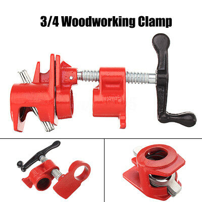 3/4'' Heavy Duty Pipe Clamp Set Quick Release Wood Gluing Woodworking Cast Iron