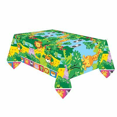 Jungle Friends Table Covers Childrens Zoo Animal Safari Birthday Party Tableware