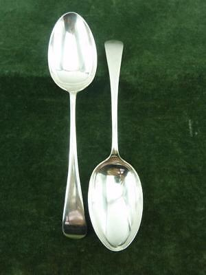 2 Vintage William Hutton Serving Spoons Old English pattern silver plated