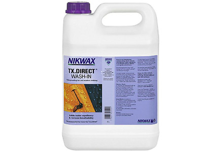 5 LITRE Nikwax TX Direct Wash In Waterproofing for Wet Weather Outdoor Clothing