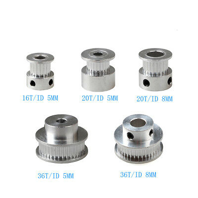 2GT Gear GT2 Pulley 16T/20T/36T Teeth for 5 / 8 mm Shaft CNC 3D Printer Part AU