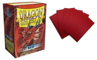 Dragon Shield - Red 100 Protective Sleeves Cases Standard Card Holder