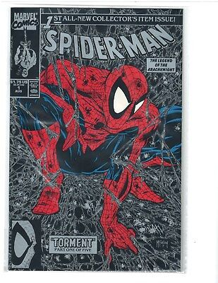 Spider-Man #1 - Silver Issue Torment - 1990 McFarlane RARE NM See Scan