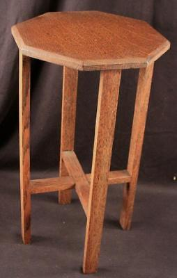 Vintage Antique Mission Arts & Crafts Quarter Sawn Oak Small Stand Plant, Vase,