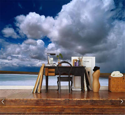 Soft White Clouds Full Wall Mural Photo Wallpaper Printing 3D Decor Kid Home