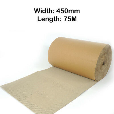 Corrugated Cardboard Paper Roll Strong Packaging Width 450mm Length 75M Meters