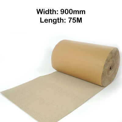 Corrugated Cardboard Paper Roll Strong Packaging Width 900mm Length 75M Meters