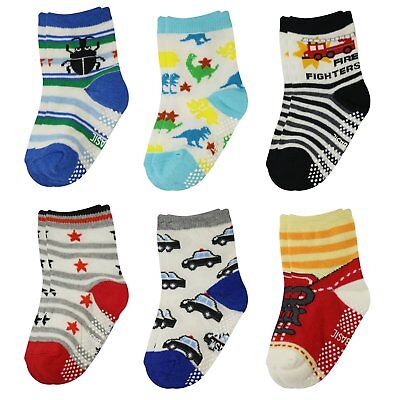 6 Pairs Anti Slip Baby Kids Socks Ankle Toddler Non-skid Soft Cotton Assorted