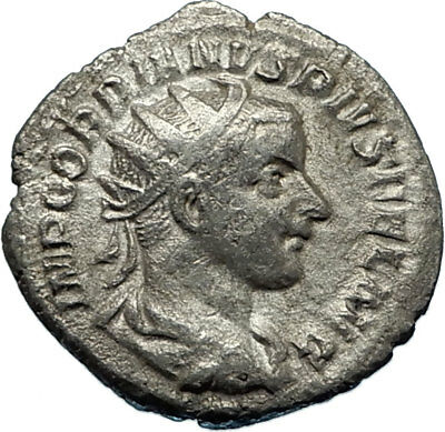 GORDIAN III 240AD Rome Authentic Genuine Ancient Silver Roman Coin SOL i65692