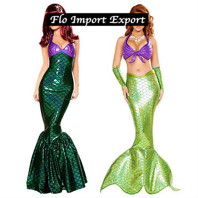 Sirenetta Simil Ariel Vestito Carnevale Cosplay Little Mermaid Costume MECOS02 3