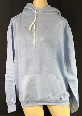 Vintage Russell Athletic Rayon Hoodie Heather Blue Tri-blend Adult Deadstock