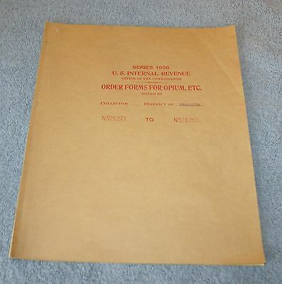 Series 1936 U.S. Internal Revenue - Order Forms for Opium  - Washington