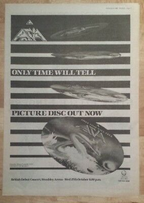 Asia Only time will tell  1982 press advert Full page 27 x 38 cm mini poster