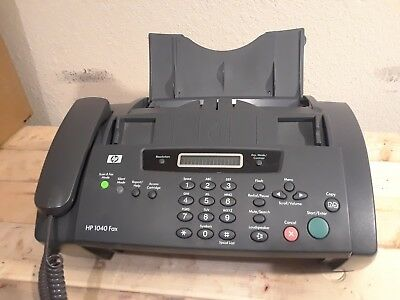 Hp 1040 Inkjet Fax Machine w/ built in telephone, ink cartridge, and power cord