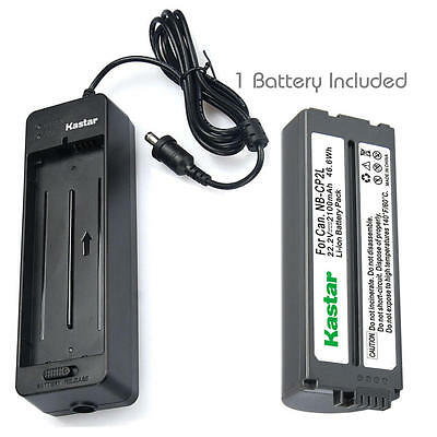Kastar Battery or Charger for Canon SELPHY CP100 CP200 CP220 CP300 CP330 CP400