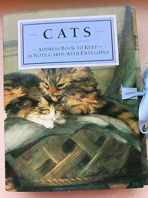 Cats Address Book to Keep 16 Gift Cards with Envelopes.Unused Vintage Condition