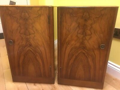Excellent Antique Matching Pair Bedside Cabinets