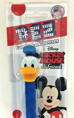 NEW PEZ Dispenser Disney Mickey Friend DONALD DUCK Candy Orange Lemon Strawberry