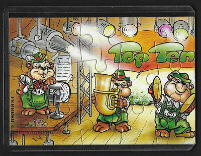 Jouet kinder puzzle 2D Top Ten Teddies Musiciens 1 Allemagne 1995 + étui +BPZ