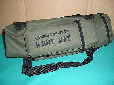 Sigma Products Military Wet Bulb Globe Temperature Kit w/ Tripod,bag,flags *NEW*