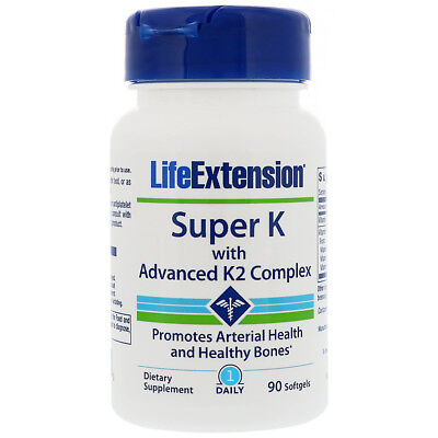 Life Extension Super K with Advanced K2 Complex - 90 Softgels