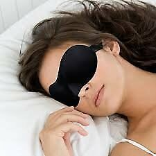 Sweet Dreams Contoured Sleep Mask with Earplugs, Black
