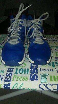 NIKE High Top Basketball Tennis Shoes Youth Boy's Size 4Y Blue and Gray