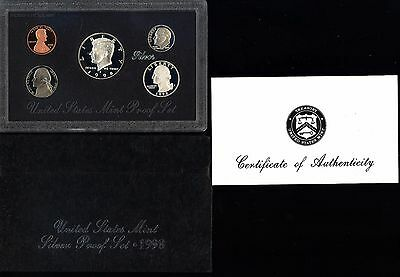 "***u.s. Mint ***1998 ""s"" United States 5 Coin Silver Proof Set Black Pack"