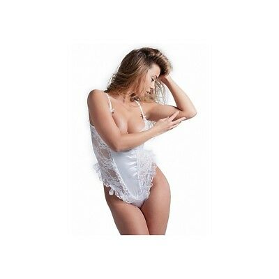 Completo intimo sexy Teddy Set With G-String - White donna lingerie erotico