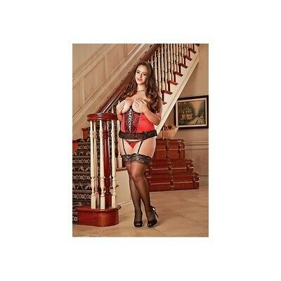Completo intimo sexy Cupless Corset & G-string - Red donna lingerie erotico