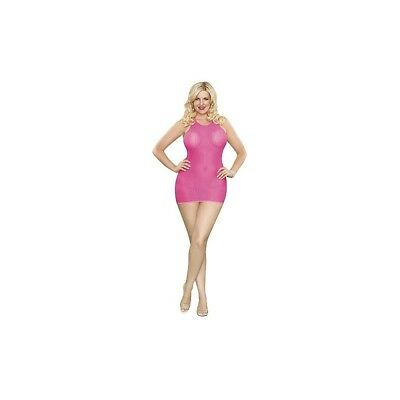Completo intimo sexy Halter Dress & G-string - Pink donna lingerie erotico