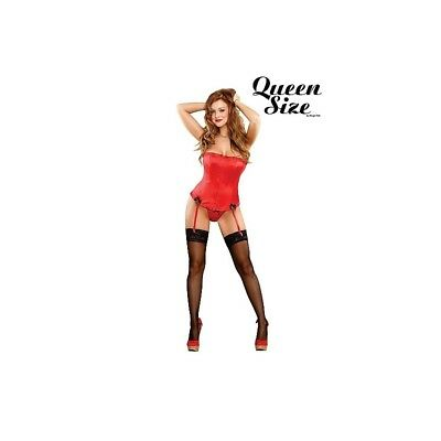 Completo intimo sexy Corset & G-String - Red donna lingerie erotico