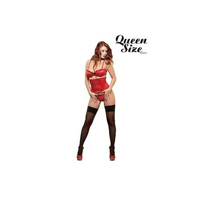 Completo intimo sexy Bra, Waist Cincher & G-String - Red donna lingerie erotico