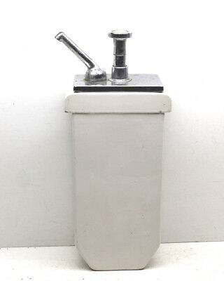Vintage 1920s Antique Soda Fountain Syrup Flavor Pump+Ceramic Vessel Container