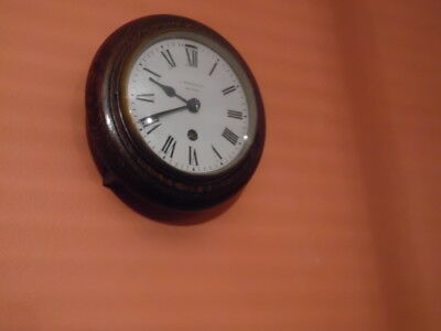 miniture edwardian wall clock j turner & co london