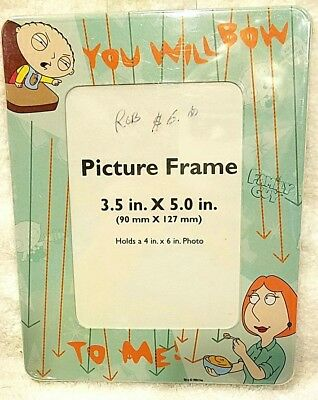 "FAMILY GUY PICTURE FRAME PHOTO STEWIE LOIS ""YOU WILL BOW TO ME"" FITS 4x6  RIX"