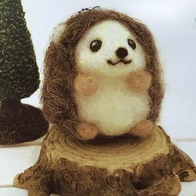 Cute Woodland Hedgehog Japanese Felt Kit/ DIY felting Craft
