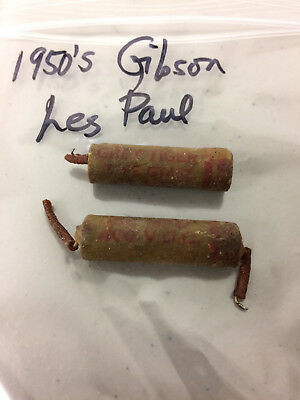 Gibson Grey Tiger Capacitor Set 1950's Gibson Les Paul Vintage USA
