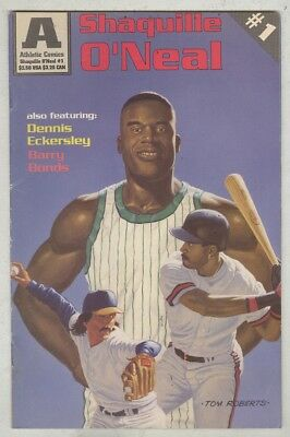 Athletic Comics #1 April 1993 VG Shaquille O'Neal, Dennis Eckersley, Barry Bonds