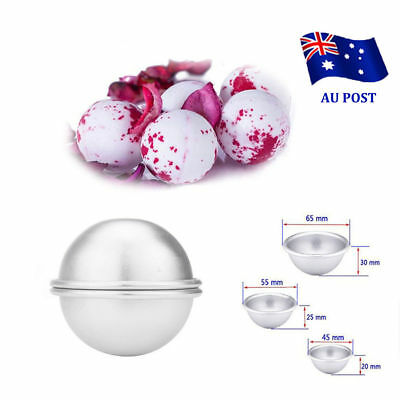2pcs Aluminum Bath Bomb Molds DIY Homemade Crafting Bath Round Ball Moulds SN